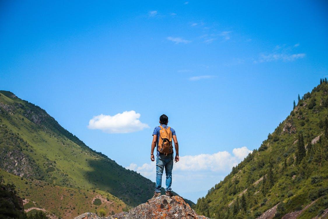 Een berg aan de horizon
